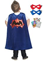 Little Adventures Spider Cape and Mask Play Set Age 3-8 with Coloring Book