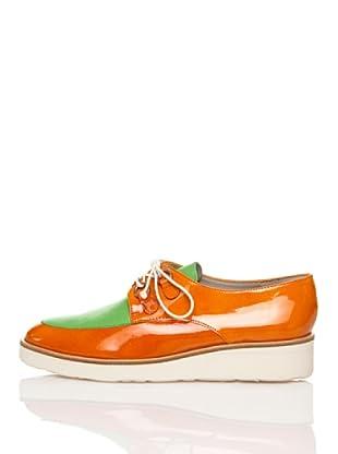 Flavio Menorca Zapatos Cloe (Verde Menta / Naranja)