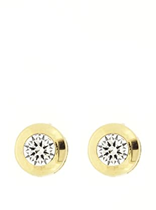 Gold & Diamond Pendientes Chatón 5 mm Circonita