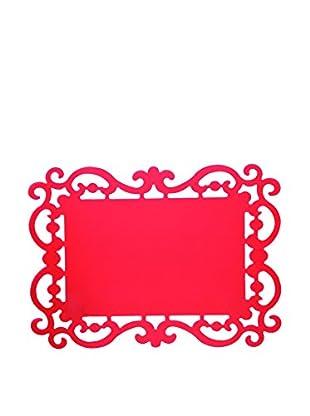 Bitossi Home Set Tisch-Untersetzer Set 12 Tovagliette Cm 44X32 Baroque rot 44 x 32 cm