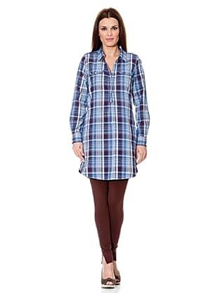 Cortefiel Blusenkleid (Blau)