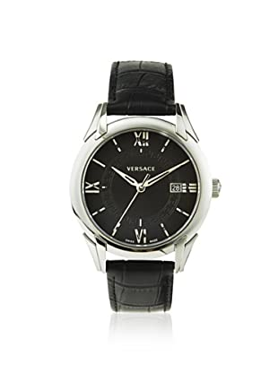 Versace Men's VFI010013 Apollo Black Leather Watch