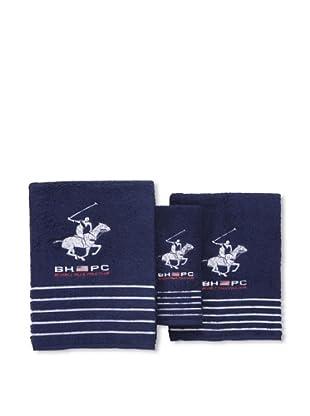 Beverly Hills Polo Club Juego 3 Toallas California Blanco (Azul)