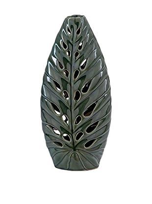 Tall Ceramic Leaf Vase