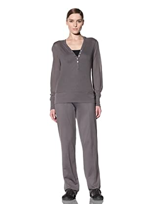 alo Sport Women's Button Front Relax Hoodie (Granite)