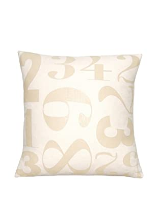 Square Feathers Numbers Square Pillow
