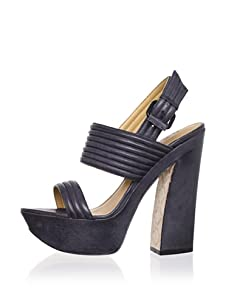 L.A.M.B. Women's Mabelle Platform Sandal (Black)