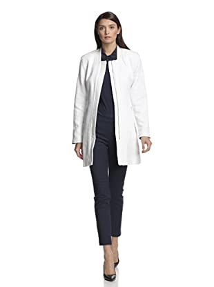 Vince Camuto Women's Trench with Faux Leather (Off white)