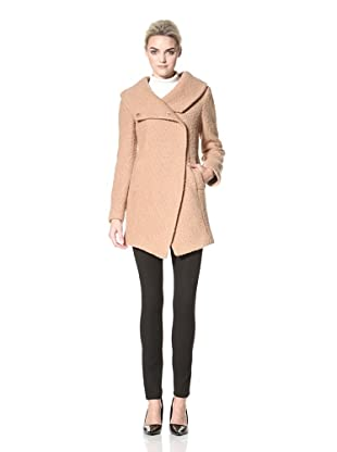 Dawn Levy Women's Adelaide Boucle Funnel Neck Coat (Camel)