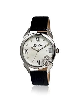 Bertha Women's BR2206 Clover Black/White Leather Watch