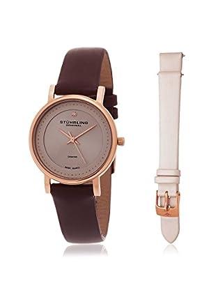 Stührling Women's 734LS2.SET.02 Interchangeable Symphony Elite Diamond Brown Watch