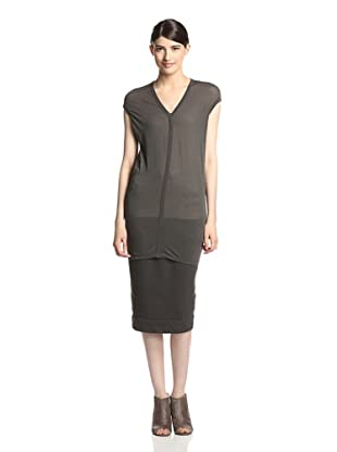 Rick Owens DRKSHDW Women's V-Neck Top (Dark Dust)