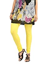 Teemoods Womens Cotton Yellow X-Large Leggings