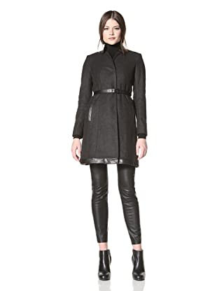 Vince Camuto Women's Belted Wool Coat (Charcoal)