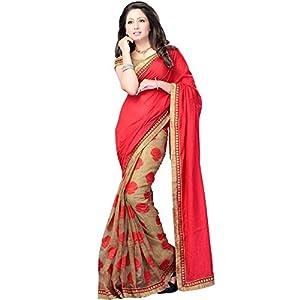 Vastralaya Half N Half Patter Designer Sari