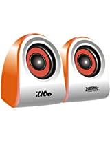 Zebronics Igloo 2.0 Channel Multimedia Speakers(Orange)