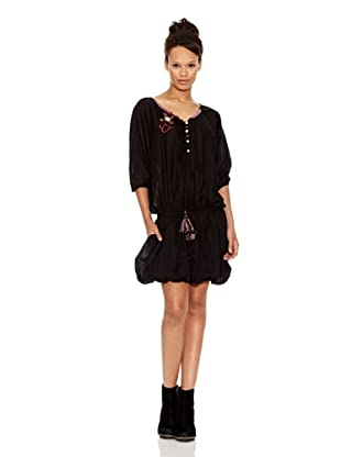 Desigual Vestido Lubaina (Negro Estampado)
