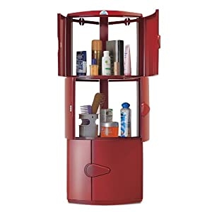 Nilkamal Corner Cabinet - 3 Door Maroon Color