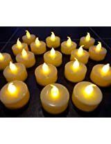 Wilson Trading 12 Flameless Tea Light Candles/ Led Candles / Party candles (White (Natural Flame))