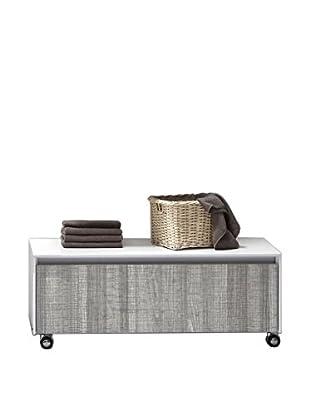 NEUTRAL Mueble de Baño con Ruedas Blanco/Gris