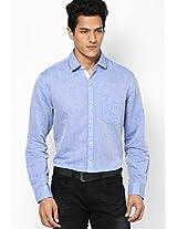 Blue Full Sleeve Casual Shirt Peter England