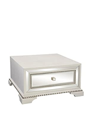 Bassett Mirror Armando Square Cocktail Table, White