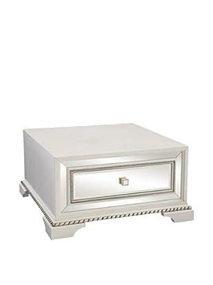 Bassett Mirror Company Armando Square Cocktail Table, White
