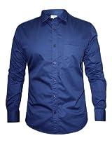 Numero Uno Blue Solid Shirt