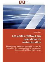 Les Pertes Relatives Aux Operations de Restructuration (Omn.Univ.Europ.)