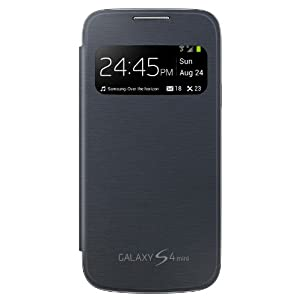 S-View Flip Cover for Samsung Galaxy S4 Mini (Black)