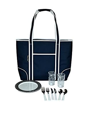 Picnic At Ascot Large Insulated Tote For Two, Navy