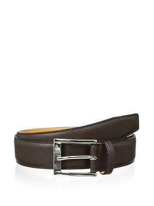 Leone Braconi Men's Sauvage Bullskin Belt (Brown)