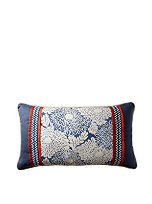 Belmont Home Indira Decorative Pillow (Blue/Ivory/Orange)