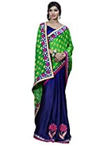 Manvaa green and blue saree -SGN21708