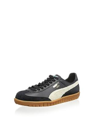 PUMA Oslo Leather Classic Sneaker (Black/Whisper White)