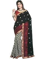 Bhagalpuri Silk Saree in White Colour for Festive Wear