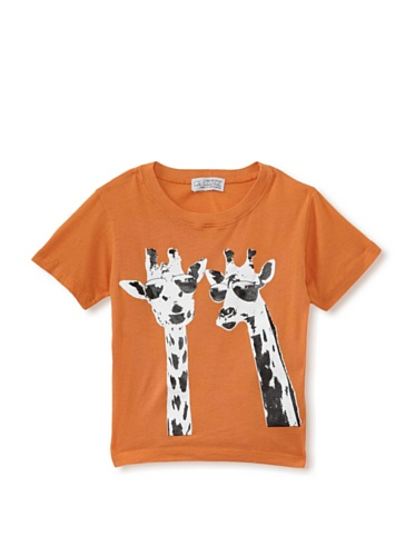 LA Lounge Boy's Giraffe's on Holiday Crewneck Tee (Orange)