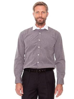 Cortefiel Camisa Liso (marrón)