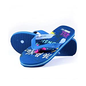 Yepme Graphic Printed Blue Flip-Flop