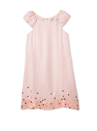 Blush by Us Angels Girl's Cap Sleeve A-Line Dress with Embellishment (Petal Pink)