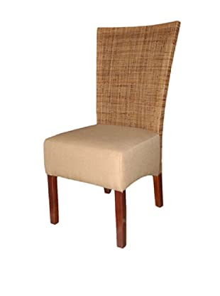 Jeffan Karyn Dining Side Chair, Brown/White