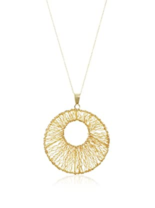Fraydee Collection Round Weave Pendant Necklace