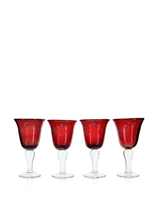 Global Amici Salute Goblet, Red, 12-Oz.
