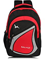 Bag-Age Spicy Large 30 (L) School Backpack (Red)