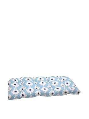 Waverly Sun-n-Shade Rise and Shine Pool Wicker Loveseat Cushion (Navy/Aqua/Cream)