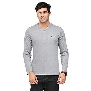 Phoenix Grey Henley Men T shirt fsp