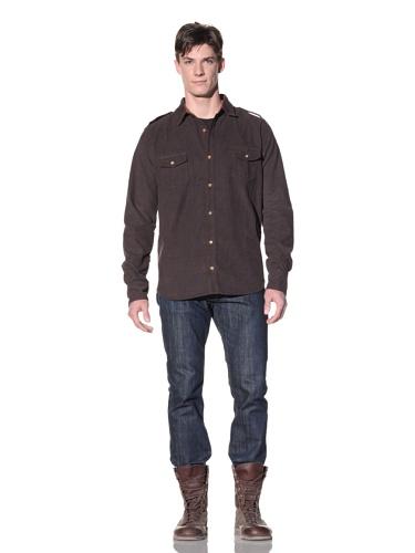 Oliver Rayn Men's Nico Corduroy Shirt (Antique Black)