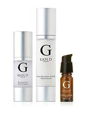 Gold Serums Gesichtspflege Kit 3 tlg. Set