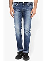 Blue Mid Rise Skinny Fit Jeans Killer