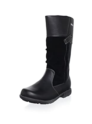Billowy Kid's Contrast Tall Boot (Black)